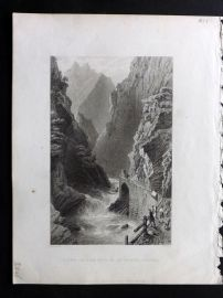 Bartlett Switzerland C1836 Antique Print. Scene on the Tessin, at Monte Piotino.